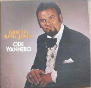 ODE WANNEBO, RIDE ON KING JESUS   SIGNED LP