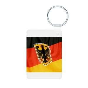 Aluminum Photo Keychain German Flag Waving