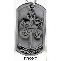 Armor of God Dog Tag Necklace (Pack of 3)