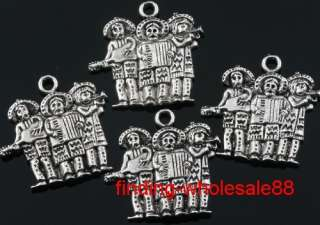 Free ship 7pcs tibetan silver band charms pendant
