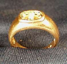 Vintage 14K Gold Ring w/ Two Mine Cut Diamonds 1/2 CT TW   SZ 5   3.9