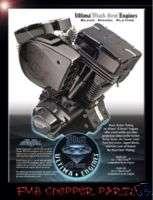 ULTIMA BLACK GEM 127 CI ENGINE MOTOR EVO HARLEY