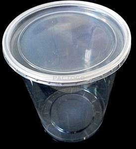 Ounce Round Deli Container and Lids   50 Sets Clear Plastic Food Cups