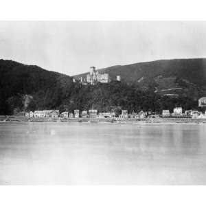 1800s photo Castle and village of Stolzenfels graphic