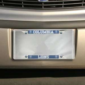 Columbia University Lions Domed Chrome License Plate Frame