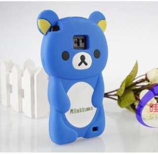 Rilakkuma Bear 3D Silicone Soft Case Cover For SAMSUNG i9100 GALAXY S2