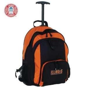 Mercury Luggage Illinois Fighting Illini Orange & Black