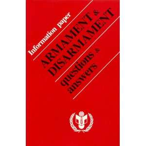 (World Disarmament Campaign, United Nations) United Nations Books