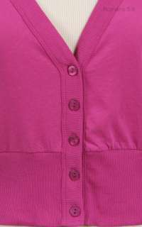 Down Long Sleeve Cropped V Neck Cardigan VARIOUS COLOR SIZE
