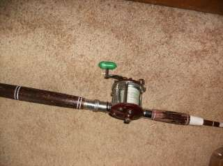 Penn #9 trolling reel + 5.5 ft no name trolling rod   very good