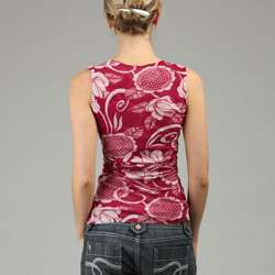 Sweet Pea Womens Floral Print Surplice Wrap Top