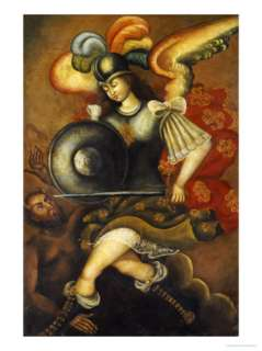 The Archangel St. Michael, Peruvian School Giclee Print at AllPosters