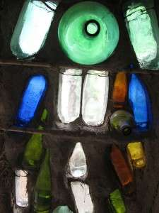 COBALT BLUE COLORED GLASS EMPTY WINE BOTTLES (PHOTO #1)