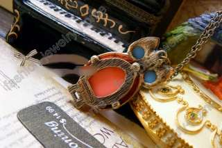 Hot Retro Bronze Coral Cute Owl Necklace