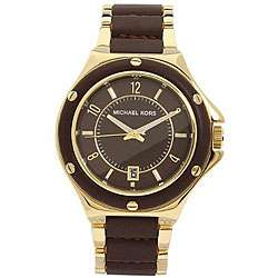 Michael Kors Womens MK5169 Leather Strap Watch