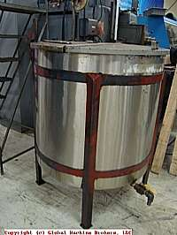Mixing Kettle 140 Gallon Stainless Steel Tank w Lid