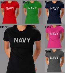 Los Angeles Pop Art Womens Navy T shirt