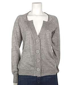 Chloe Light Grey Cashmere Cardigan