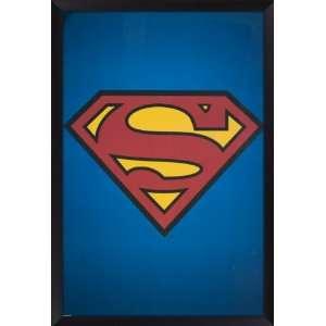 Framed Superman Logo Poster: Home & Kitchen