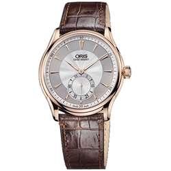Oris Artelier Mens Rose Gold Watch