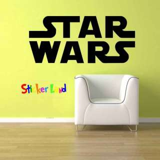 Huge Star Wars Logo Kid Room Decor Vinyl wall Art Decal