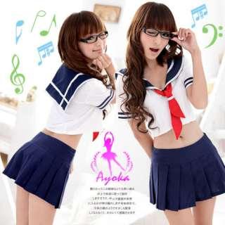 JAPAN HIGH SCHOOL UNIFORM COSPLAY COSTUME NAVY BLUE