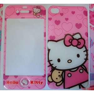 Hello Kitty Sticker Skin Cover Bumper Case for iPhone 4