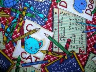 New Chalkboard Fabric BTY School Pencil Notebook