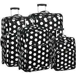 Overland Travelware Polka Dot 4 piece Luggage Set