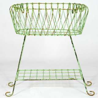 Wrought Iron Deep Basket Plant Stand Flower Planter