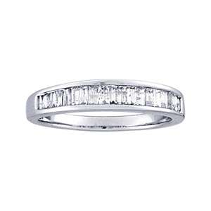 Carat Baguette Diamond 10k White Gold Channel Set Anniversary