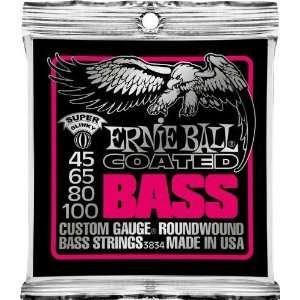 Ernie Ball Coated Electric Super Slinky Bass Musical Instruments