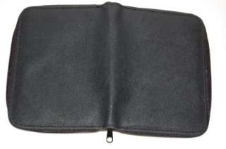 Leather Passport Holder Wallet Travel Case Black ID Pouch Cover
