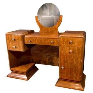 Antique Bedroom French Art Deco Mirrored Vanity Desk