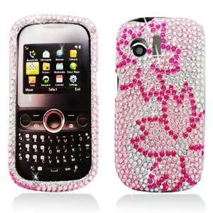 Large Pink Cherry Blossom With Full Rhinestones Faceplate