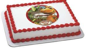 EDIBLE DINOSAUR TRAIN BIRTHDAY CAKE TOPPER IMAGE NEW