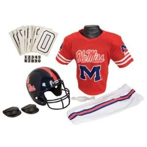 Mississippi Ole Miss Rebels NCAA Football Deluxe Uniform Set Size