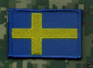 AFGHANISTAN NATO SECURITY FORCE ISAF SWEDISH FLAG PATCH
