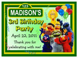 15 SESAME STREET BIRTHDAY PARTY FAVORS MAGNETS