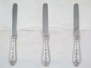 Antique Sterling Silver Handle Tea or Butter Knives dated 1908