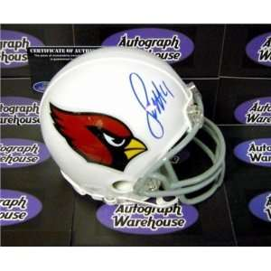 Larry Fitzgerald Autographed/Hand Signed Football Mini Helmet (Arizona
