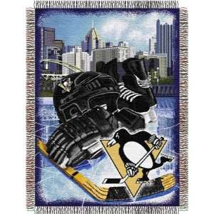 Pittsburgh Penguins NHL Ice Adventures Woven Tapestry Throw