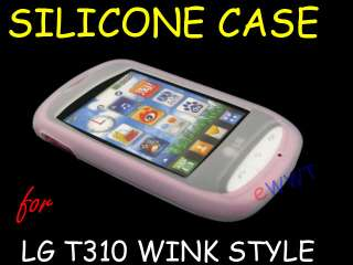 for LG T310 Wink Cookie Style White Silicone Soft Case