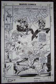 Amazing Spiderman 367 Original Art Cover by Bagley