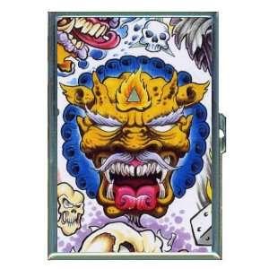 Gargoyle Monster Demon Tattoo ID Holder, Cigarette Case or