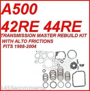 TRANSMISSION MASTER REBUILD KIT WITH ALTO FRICTIONS 88 04