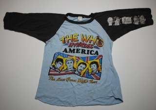 VTG THE WHO INVADES AMERICA GREAT TOUR SHIRT 1983 M