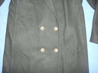 Jofeld Womens Wool Blend Calf Length Coat Sz Small