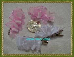 small girl hair clip pin bow Barrette TODDLER Dog 48
