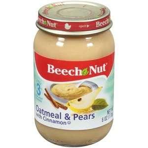 Beech Nut Oatmeal & Pears w/Cinnamon Stage 3 Baby Food